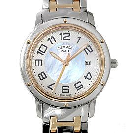 Hermes Clipper Nacre CP1.321 33mm Womens Watch
