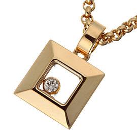 Chopard YG Happy Diamond Pendant Necklace
