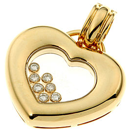Chopard YG Diamond Happy Pendant Top