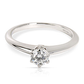 Tiffany & Co. Solitaire Diamond Engagement Ring in Platinum I VVS2 0.79 CTW