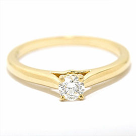 Cartier 18K YG Diamond Ring Size 4.5