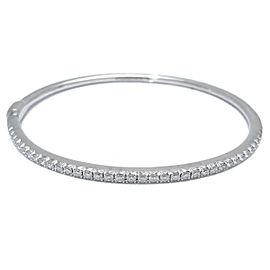 Tiffany & Co. 750 White Gold Metro Hinged Diamond Bangle