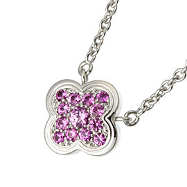 Van Cleef & Arpels Pure Alhambra Pink Sapphire Pendant Necklace