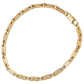 CARTIER Yellow Gold Figaro Chain Bracelet