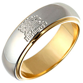 Burberry Platinum 900 Yellow Gold Ring Size 4.75