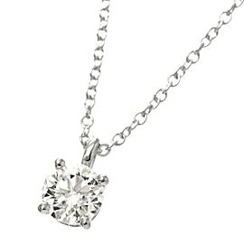 TIFFANY Co. Platinum Solitaire Diamond Necklace