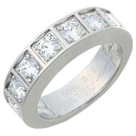 Cartier White Gold Tectonic Diamond Ring Size 4.5