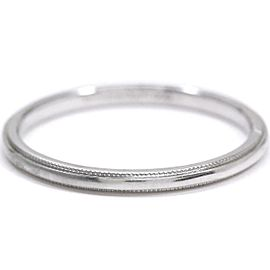 TIFFANY Co. Platinum Milgrain Band Ring Size10.25