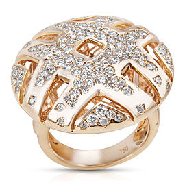 BRAND NEW Diamond Fashion Dome Ring in 18K Rose Gold (1.84 CTW)
