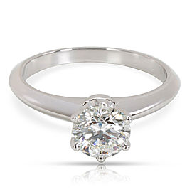 Tiffany & Co. Solitaire Diamond Engagement Ring in Platinum GIA H VVS2 0.89 CTW