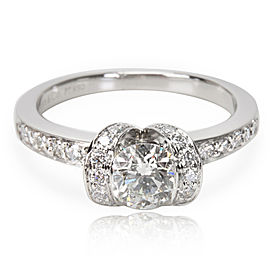 Tiffany & Co. Ribbon Diamond Engagement Ring in Platinum H VVS1 0.79 CTW