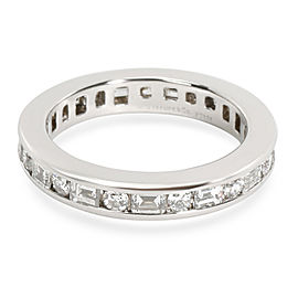 Tiffany & Co. Round & Baguette Diamond Eternity Band in Platinum 1.51 CTW