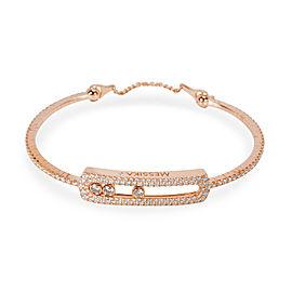 Messika Move Skinny Pave Diamond Bracelet in 18K Pink Gold 1.25 CTW