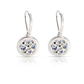 Tiffany & Co. Cobblestone Sapphire & Diamond Earrings in Platinum Blue 0.17 CTW