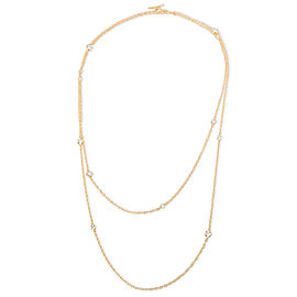 Tiffany & Co. Elsa Peretti Sprinkle Diamond Necklace in 18K Yellow Gold 1.21 CTW