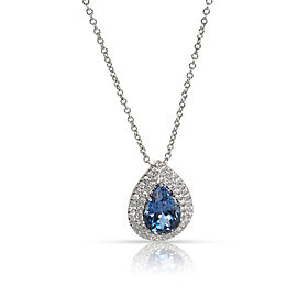 Tiffany & Co. Soleste Tanzanite & Diamond Necklace in Platinum 0.25 CTW