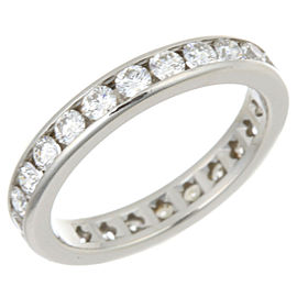Tiffany & Co. Platinum Channel Setting Diamond Ring Size 4.5