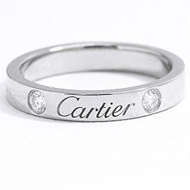 Cartier Platinum C de Diamond Ring Size 4
