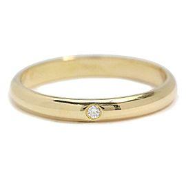 Cartier 18K YG Classic Diamond Ring Size 5.25