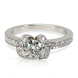Tiffany & Co. Ribbon Diamond Engagement Ring in Platinum I VVS2 0.85 CTW