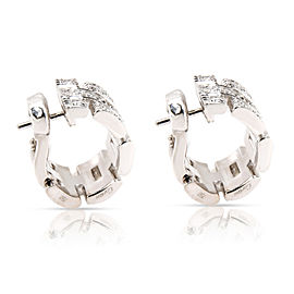 Cartier Maillon Panthere Diamond Earrings in 18K White Gold 0.33 CTW