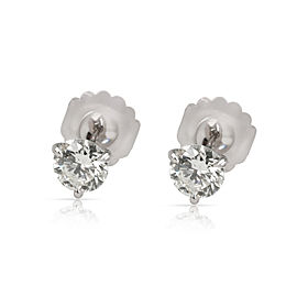 Martini Diamond Stud Earring in 14K White Gold GIA J SI1 2.03 CTW