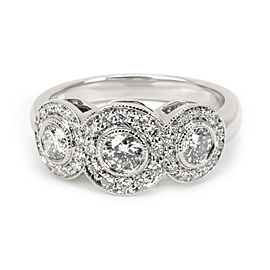 Tiffany & Co. Circlet Diamond Fashion Ring in Platinum 0.55 CTW