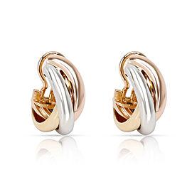 Cartier Trinity Earrings in 18K 3 Tone Gold