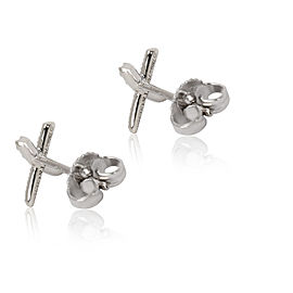 Tiffany & Co. X Kiss Diamond Earrings in Platinum 0.2 CTW