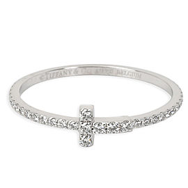 Tiffany & Co. T Wire Ring with Diamonds in 18K White Gold 0.20 CTW