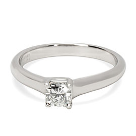 Tiffany & Co. Lucida Diamond Engagement Ring in Platinum GIA H VVS1 0.4 CTW