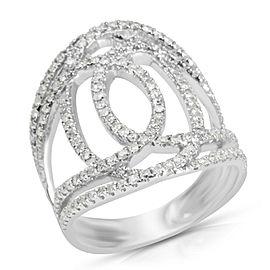 Diamond Fashion Ring in 14K White Gold (1.08 CTW)