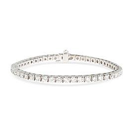Four Prong Diamond Tennis Bracelet in 18K White Gold 4.5 CTW
