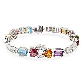 Bulgari Allegra Diamond & Multi Colored Gemstone Bracelet in 18KT Gold 1.45 CTW