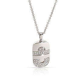 Bulgari Parentesi Diamond Pendant in 18K White Gold 1 CTW