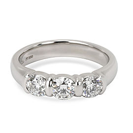 Tiffany & Co. Three Stone Diamond Ring in Platinum 0.71 CTW