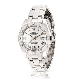 Rolex Pearlmaster 81319 Unisex Watch in 18kt White Gold