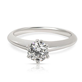 Tiffany & Co. Solitaire Diamond Engagement Ring in Platinum G IF 0.76 CTW