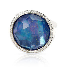 Ippolita Lollipop Stella Ring Lapis Lazuli Diamond in Blue 0.23 CTW