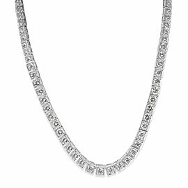 Estate Graduated Diamond Tennis Necklace in Platinum Necklace (11 CTW)