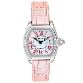 Cartier Roadster MOP Dial Pink Roman Numerals Limited Watch W6206006