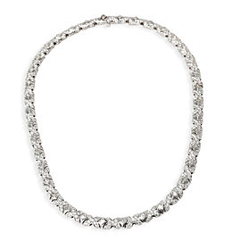 Bulgari Tubini Diamond Necklace in 18KT White Gold 9.5 CTW