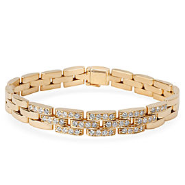 Cartier Maillon Panthere Diamond Bracelet in 18K Yellow Gold (1.44 CTW)