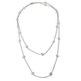 21 Station Diamonds by the Yard (DBY) Necklace in Platinum 5.73 CTW