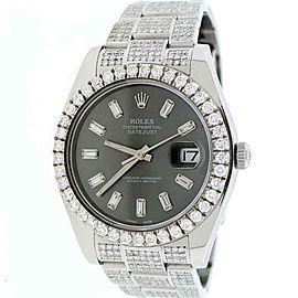 Rolex Datejust II 41mm 116300 w/9.4Ct Diamond Dial, Bezel & Bracelet Box Papers