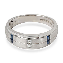 Vera Wang Love Collection Diamond & Sapphire Men's Wedding Band in 14KT Gold