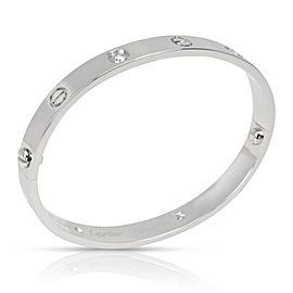 Cartier Love Bangle with Diamonds in 18K White Gold (Size 17)