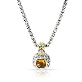 David Yurman Albion Citrine Pendant in 14K Yellow Gold/Sterling Silver Yellow