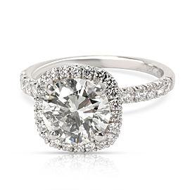 Simon G Halo Diamond Engagement Ring in 18K White Gold J I1 2.29 CTW