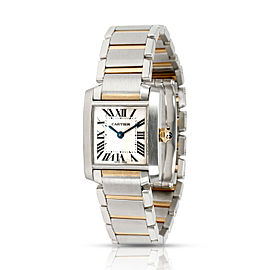 Cartier Tank Francaise W51007Q4 Women's Watch in 18kt Stainless Steel/Yellow Gol